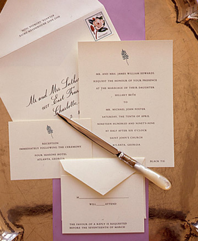 Wedding Invite Etiquette Wording: Wedding Invitation Wording And Etiquette Tips